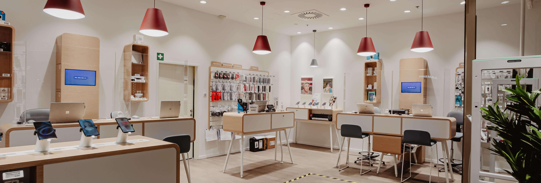 Drei Shop im Kaufhaus Tyrol