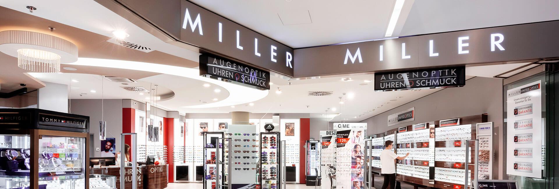 Miller United Optics im Kaufhaus Tyrol