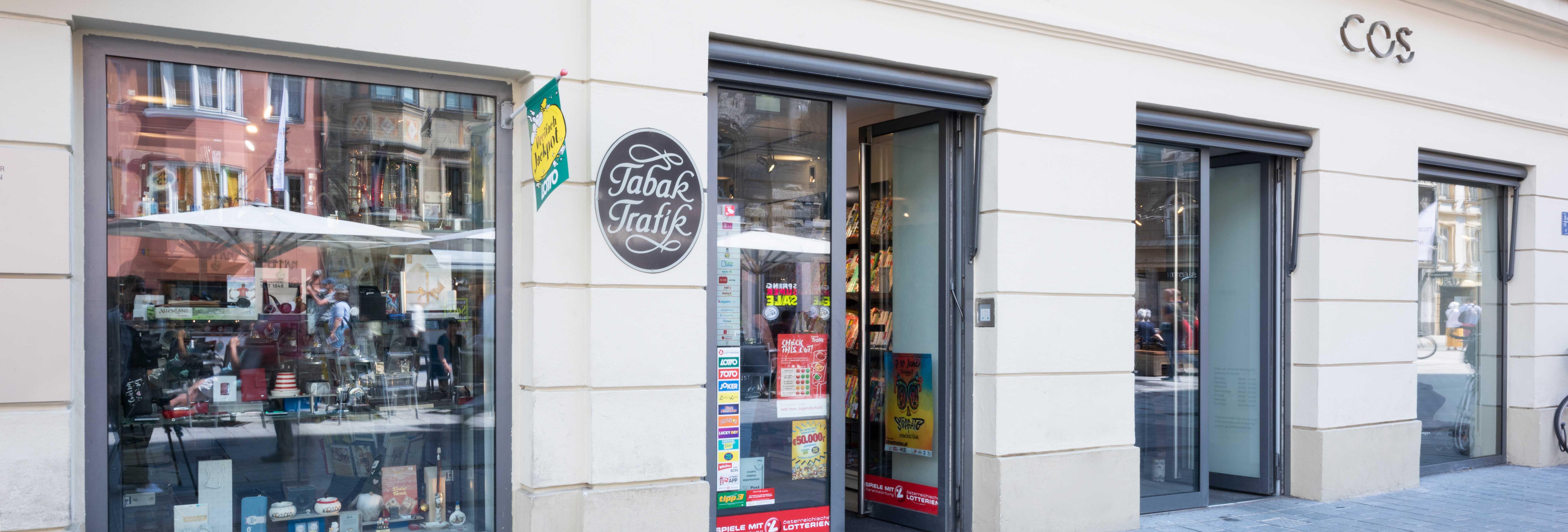 Tabaktrafik Kaufhaus Tyrol