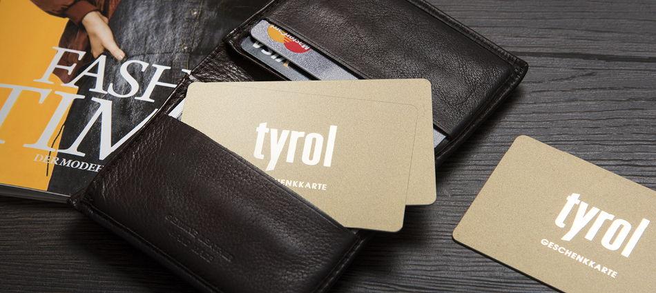 Geschenkkarte Kaufhaus Tyrol