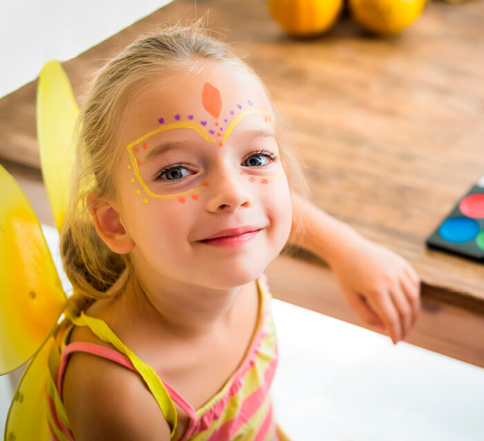 Kinderschminken im Kaufhaus Tyrol