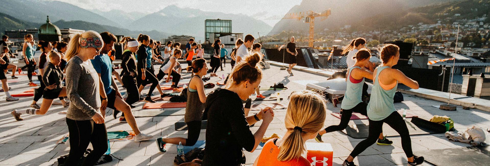 Das Training - Rooftop Session am Dach des Kaufhaus Tyrol
