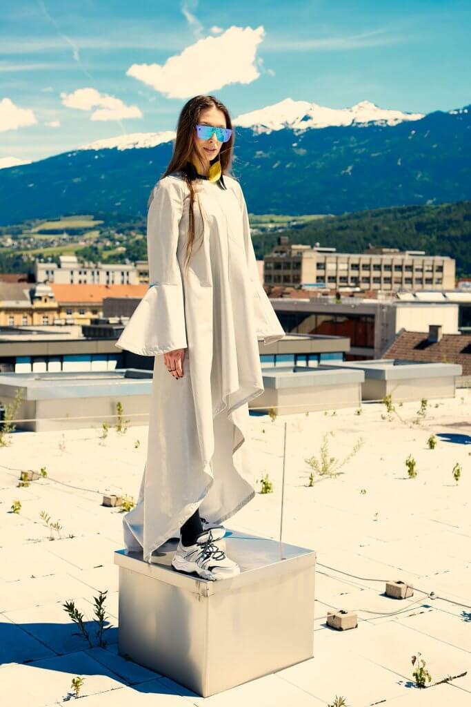 Rebekka Ruetz Fotoshooting im Kaufhaus Tyrol