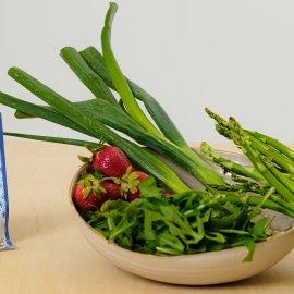 Rezept Sommer Salat mit Spargel und Erdbeeren